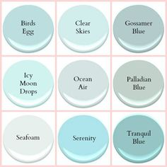 Ocean Air Benjamin Moore Seafoam Coastal Paint colors by Stacey Boldt Coastal Paint Colors, Interior Paint Colors, Paint Colors For Home, Wall Colors, House Colors, Turquoise Paint Colors, Aqua Paint Colors, Playroom Paint Colors, Interior Design