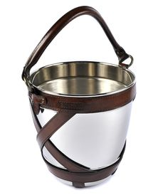Chrome and Leather Ice Bucket| www.joannawood.co.uk #countryliving #equestrianinspired