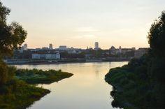Widok z prawego brzegu Wisły w okolicach Pragi