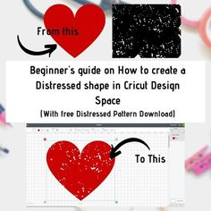 Tutorial on how to create a distressed effect in design space for beginners with free distressed template svg