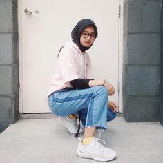 Modern Hijab Fashion, Muslim Fashion, Korean Fashion, Casual Hijab Outfit, Ootd Hijab, Swag Outfits, Fashion Outfits, Womens Fashion, Street Hijab