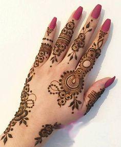 Latest New Henna Mehndi Designs 2018 2019 Catalog Book Finger Henna Designs, Mehndi Designs Book, Mehndi Designs 2018, Modern Mehndi Designs, Mehndi Design Pictures, Mehndi Designs For Fingers, Dulhan Mehndi Designs, Beautiful Henna Designs, Henna Tattoo Designs