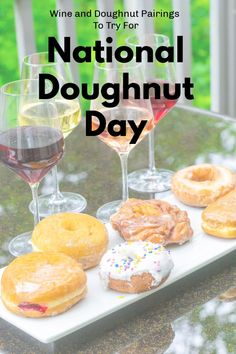 Find a doughnut to pair with your favorite wine Cocktails, Drinks, Doughnut, Your Favorite, Donuts, Pairs, Wine, Breakfast, Day