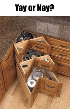 Best DIY Furniture U0026 Shelf Ideas 2017 / 2018 Corner Drawer For The Kitchenu2026  HECK YA I Need One Of These! Iu0027ll Take These Over A Lazy Susan Any Day   Read ...