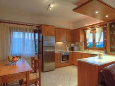 Geropotamos villa rental - Vila Maria-The kitchen is totally functional and fully equipped!
