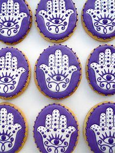 hamsa cookies! #planetblue