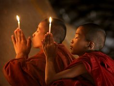 Buddhist Monks at Pagan, Burma