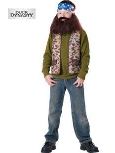 Boy's Duck Dynasty Willie Child Costume