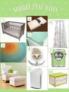 How To Create a Modern, Eco-Friendly Nursery For Baby | via The Honest Company blog