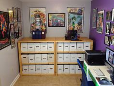 Sweet comic book shelves!