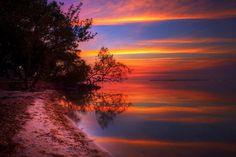 Fiery sunset over Key Largo. Photo by Daniel Peckham.