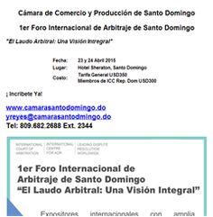 1er Foro Internacional de Arbitraje de Santo Domingo -Publicidad