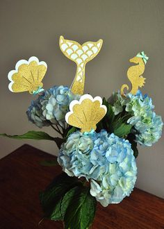 Mermaid Party Decorations. Mermaid Centerpiece. Handcrafted in