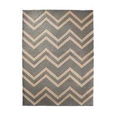 Threshold™ Hooked Chevron Area Rug - Blue Target