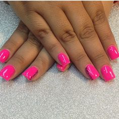 Hot pink with strip of animal print