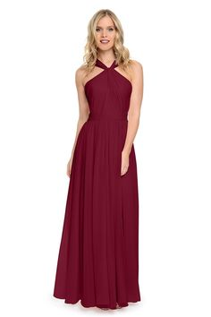 f354970b92b8 2016 Wine Blue Burgundy Bridesmaid Dresses Long Pleated Wedding Guest  Dresses For Wedding Prom Evening Party Formal Gown Funky Bridesmaid Dresses  Girl ...