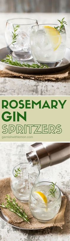 Simple and refreshing, Rosemary Gin Spritzers are the perfect way to update your…
