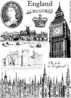 LONDON ENGLAND UK Great Britain unmounted by cherrypieartstamps, $24.00