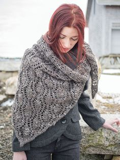 NobleKnits.com - Berroco Inca Tweed Tipperary Lace Shawl Pattern NG 15 PDF, $6.95 (http://www.nobleknits.com/berroco-inca-tweed-tipperary-lace-shawl-pattern-ng-15-pdf/)