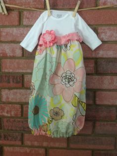 Newborn Baby Girl Gown by CuteWithaK on Etsy, $22.00