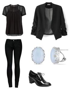 """""""Esther work"""" by erinbarchet ❤ liked on Polyvore featuring 2LUV, Marc by Marc Jacobs, Steve Madden and Miadora"""