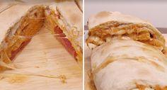 Rollo de pizza Stromboli | Upsocl