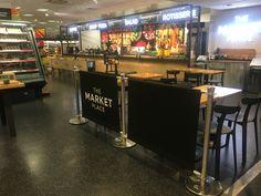 Cafe Barrier Installation for Marks and Spencer in Milton Keynes #cafe #cafebarriers #barriers #pavementbarriers #banners #cafebanners #black #vinyl #print #design #marketplace #mands #shop #canvas #brandline #cafeposts #posts #white #blackandwhite #photography #miltonkeynes #mk