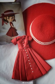 微博 Gotz Dolls, Blythe Dolls, Barbie Dolls, Doll Clothes Patterns, Clothing Patterns, Dress Patterns, Barbie Clothes, Diy Clothes, Moda Barbie