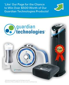 Guardian Technologies 'Take Care of Your Air' Sweepstakes!  Enter for a chance to win over $500 worth of our products!