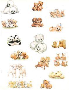 Baby animals Hallmark stickers - 1990's