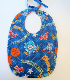 Sports and Basketball Baby Bib by LulusCreations1 on Etsy, $8.50