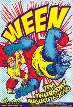Ween! Awesome poster for Cain's Ballroom in Tulsa, Oklahoma