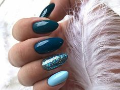 Beautiful Blue Nails Ideas For Your Appearance 23 - If you have rejected the notion of wearing blue nail polish in the past, it's time to reassess your position. Although blue nails were once associated. Dark Color Nails, Dark Nails, Matte Nails, Dark Colors, Nail Art Blue, Grey Gel Nails, Hallographic Nails, Dark Blue Nails, Argyle Nails