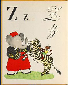 Animalarium: February 2012 -- from ABC OF BABAR by Jean de Brunhoff, 1936.
