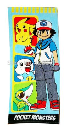 Anime Pokemon Pikachu Cotton Towel Boys Face Towels Gift Children Towels for…