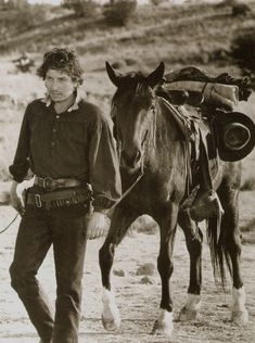 1973 ~ Photo Of Bob Dylan Leading A Horse From The Movie Pat Garrett And Billy The Kid https://mashable.com/2016/03/02/bob-dylan-western/