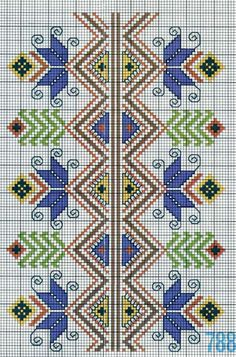 ru / Фото - Greek embroidery from Dora - sashapet Dmc Cross Stitch, Beaded Cross Stitch, Cross Stitch Borders, Cross Stitch Flowers, Cross Stitch Designs, Cross Stitch Patterns, Folk Embroidery, Cross Stitch Embroidery, Embroidery Patterns