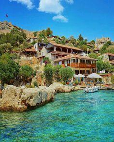 🏚 Kaleköy 📍 Kaş Antalya ✈️ Havayolu veya Karayolu ile ulaşım sağl… - My CMS Turkey Tourism, Turkey Travel, Japan Destinations, Holiday Destinations, Turkey Destinations, Beach Trip, Vacation Trips, Beach Vacations, Travel Images