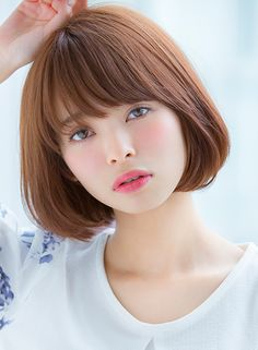Medium Length Hair Styles For Girls Japanese Short Hair, Korean Short Hair, Japanese Hairstyle, Girl Short Hair, Short Hair Cuts, Square Face Hairstyles, Medium Brown Hair, Shot Hair Styles, Romantic Wedding Hair