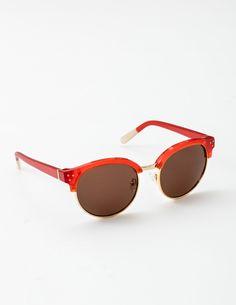 Luz Sunglasses (Dahlia Red)