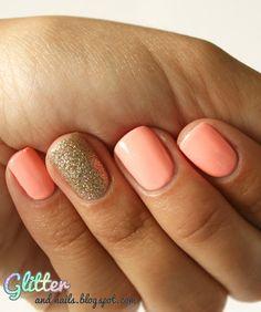 Glitter and Nails #Nails #NailArt #Design