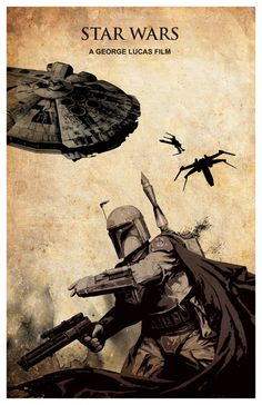 Star Wars Poster Boba Fett by colorpanda on Etsy, Star Wars Ships, Star Wars Art, Star Trek, Saga, Star Wars Episode 2, Avengers Age, Star Wars Poster, Love Stars, Boba Fett