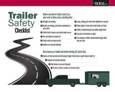 Trailer Safety Checklist Poster