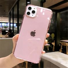 Transparent Glitter Candy Color Phone Case For iPhone 11 Pro X XR XS Max 7 8 6 Plus Shockproof Clear Soft Back Cover, Pink / Cotton Fabric Cute Cases, Cute Phone Cases, Iphone Phone Cases, New Iphone, Iphone Case Covers, Iphone 11 Pro Case, Smartphone, Iphone 7 Plus 32gb, Iphone Deals
