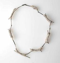 Iro Kaskani Necklace - Silver, jesmonite, foam.