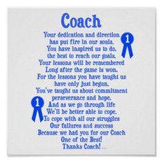Coach poem