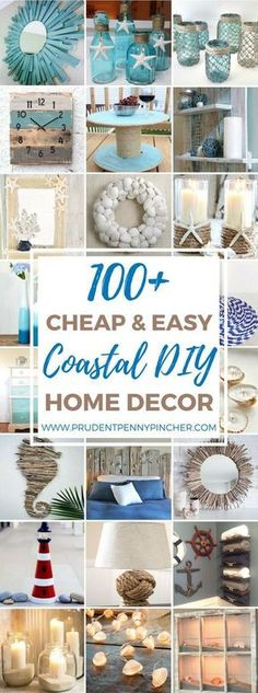 100 Cheap and Easy Coastal DIY Home Decor Ideas   Prudent Penny Pincher