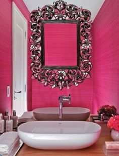 Pink Bathroom Bling My Dream Just Needs A Touch Of Glitter Flynn Spann Vader Irewei Callaway