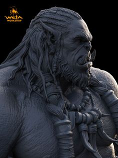 Hey everyone, Here is my sculpture of Durotan from the Warcraft Movie!  I had a…