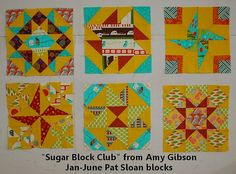 pat sloan sugar block by Amy Gibson _ jan to june by quilterpatsloan, via Flickr